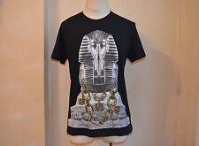 VERSACE JEANS BLACK EGYPTIAN PHARAON TUT GOLD CHAINS LOGO PRINT T SHIRT 52 L 16