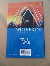 Wolverine (vol 3)  47  . Civil War . Marvel 2006 . FN / VF