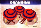 3 Umbrellas On Beach Orangina Drink Vintage Poster Print Retro Style Wall Decor