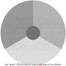 """NETHERLANDS Dutch AirForce KLu LowVis Roundel (Grey) 100mm(4"""") Sticker, Decal"""