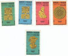 PARAGUAY - Bustina 5 francobolli serie SPORT OLIMPIADI MESSICO 1968