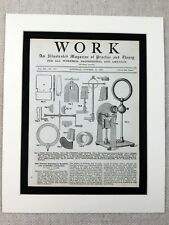 1890 Antique Print Winter plate electrical machine Engineering Victorian