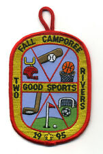 Two Rivers District Fall Camporee 1995 Boy Scout Patch  Good Sports