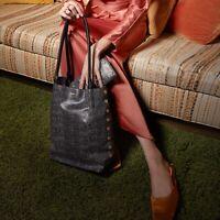 Hammitt Oliver Medium Pepper Snake Black Hobo Leather Bag Purse Handbag NEW