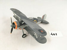 ATLAS EDITIONS # 3909012 DEFENCE OF MALTA 1940 GLOSTER GLADIATOR DIECAST BIPLANE