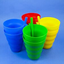 2 - 10oz. SIP A CUPS BUILT IN STRAW, JUICE GLASS SIPPY CUP TUMBLER, USA BPA FREE