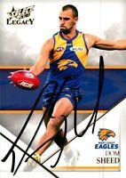 ✺Signed✺ 2018 WEST COAST EAGLES AFL Premiers Card DOM SHEED