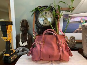 Dooney &  Bourke Pink Florentine Leather Handbag Purse Pre-owned RARE Nice Shape