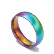 titanium rainbow lesbian gay pride ring gift love FREE POST AUS STOCK vote yes