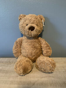 "Jellycat London Medium Bumbly Bear Teddy Stuffed  Plush 16"" Brown"