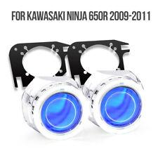 KT Halo Eye HID Projector Lens for Kawasaki Ninja 650R 2009 2011 Headlight Blue