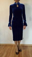 Kleid, Cocktailkleid, Partykleid, Eleganz-Sexy, leuchtendes Blau,Samt, Gr 34-36