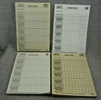 Uno Game double sided score Sheets Lot of 189 4 pads Replacement parts