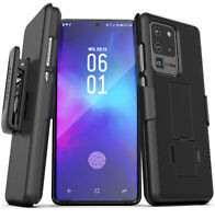Samsung Galaxy S20 / Plus / Ultra Belt Clip Case Slim Cover with Holster - Black