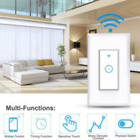 Smart LED Light WiFi Wall Touch Switch For Alexa Google Home App Timing Control