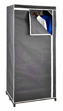 Stoffschrank grau 160cm - Faltschrank Kleiderschrank Schrank Stoffkleiderschrank