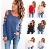 Fashion Women/Ladies Tops T-Shirt Loose Casual Long Sleeve T-Shirt Blouse Pump