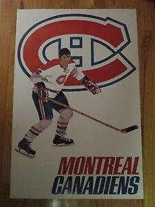 1970s WHEATIES Premium MONTREAL CANADIENS NHL Player Poster SERGE SAVARD