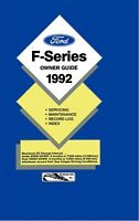 Bishko OEM Maintenance Owner's Manual Bound for Ford Truck F-Series 1992