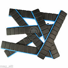 25 KLEBEGEWICHTE Schwarz Kleberiegel 12x5g Auswuchtgewichte 60g Zinkgewichte
