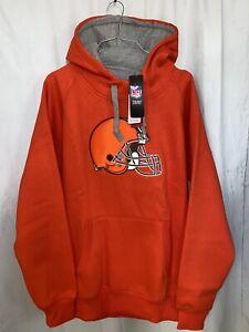 NFL Cleveland Browns Orange Hoodie Men Size Medium