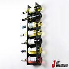 Wall Cabinet Mounted Steel Narrow Wine Rack 7 Bottle Holder Storage