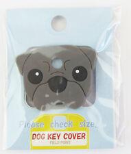 Dog Key Cover - Pug (Black)  Approx 2.5cm x 3.5cm