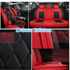 Black/Red Luxury PU Leather 5D Full Surround Car Seat Cover For Car Accessories