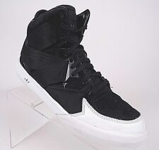 ADIDAS Mens Hi Tops Black White Leather Classic Sneaker EVM 004001 Sz 7 GUC