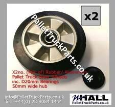 X2 200/50 - 160 rubber steer wheels for hand pallet/ pump truck (50mm hub width)