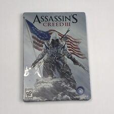 Assassin's Creed III 3 Pre-Order Bonus Steelbook Case (Xbox 360, PS3) Disc 1 & 2