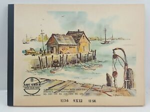 Vintage Fine Bee Product Aquabee Water Color Paper 9x12 12 Sheets in tablet form