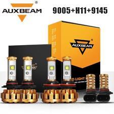 AUXBEAM H11 9005 LED Headlights+Fog Lights 9145 9140 for 2015-2018 Ford F-150