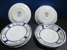 "Adams Lancaster Real English Ironstone 5 Pieces 6"" Dessert Plates + 4pc Saucers!"