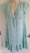 BNWT Laura Ashley Ladies 100% Linen Patterned Cap Sleeve Dress (UK 14) RRP £70