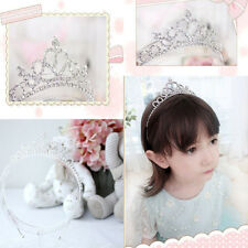 Celebrity Cute Little Girl Rhinestone Princess Crown Headband Tiara Hair Sticks