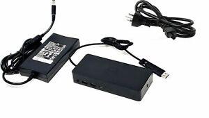 Dell D6000 USB3 UHD Triple 4K Port Replicator Dock Docking Station HDMI *INC PSU