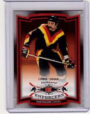 DAVE TIGER WILLIAMS 06/07 Parkhurst ENFORCERS Insert Card #248 Canucks /3999