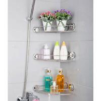 Three Bath Shelf Shower Caddy Organiser Corner Shelves Storage Rack Bathroom AU