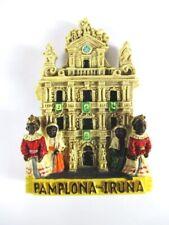 Magnet Pamplona Iruna Polyresin,Souvenir Spanien Spain,Neu.*