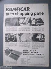 R&L Ex-Mag Advert: Kumficar Car Accessories Insulation Kit, Seat Covers