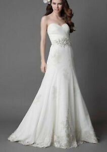 Wedding gown Wtoo Style 15353 WAS $1100 Ivory Size 12