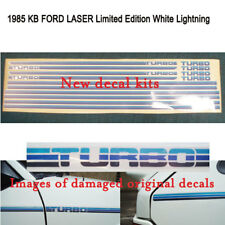 Ford KB Laser 1985 White Lightning kits..printed onto reflective vinyl