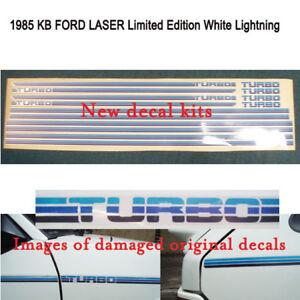 Ford KB Laser 1985 White Lightning kits..printed onto reflective vinyl