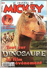 LE JOURNAL DE MICKEY n°2528 ¤ 2000 ¤ AVEC POSTER-ENCART DINOSAURE DISNEY