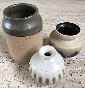 Vintage West German Vase Pottery 70s Weed Pot Otagiri Mercantile Company