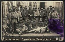 Cpa Carte Photo 98e RIT territoriale de marche Montluçon Haute Alsace 1915