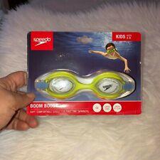 New listing Nwt Speedo Kids Neon Yellow Swim Goggles Ages 3-8 Boom Boost Uv Latex Free