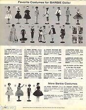 1963 ADVERT 3 PG Barbie Ken Dolls 43 Costumes Images AA Stewardess Tammy Popi
