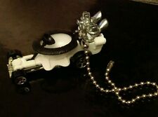 """1998 First Editions Hot Wheels Hot Seat Ceiling Fan Light 6"""" Pull Ball Chain"""
